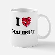 I Love Halibut food design Mugs