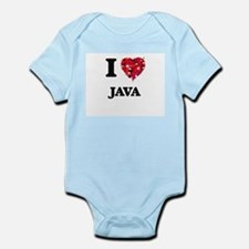 I Love Java food design Body Suit
