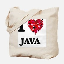 I Love Java food design Tote Bag