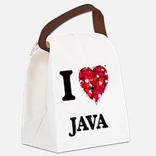 I Love Java food design Canvas Lunch Bag