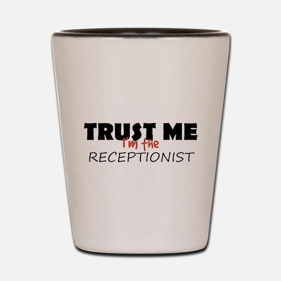 Receptionist Shot Glass