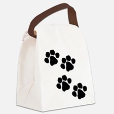 Animal Paw Prints Canvas Lunch Bag