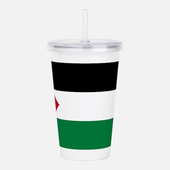The Palestinian flag Acrylic Double-wall Tumbler