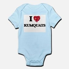 I Love Kumquats food design Body Suit