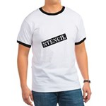 Stencil - Stencil Art Ringer T