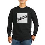 Stencil - Stencil Art Long Sleeve Dark T-Shirt