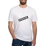 Stencil - Stencil Art Fitted T-Shirt