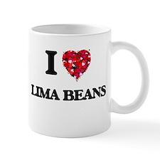 I Love Lima Beans food design Mugs