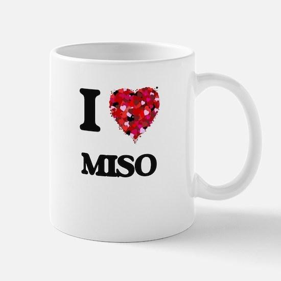 I Love Miso food design Mugs