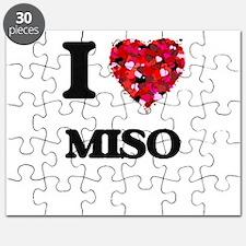 I Love Miso food design Puzzle