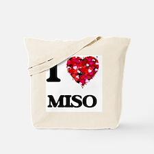 I Love Miso food design Tote Bag