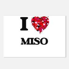 I Love Miso food design Postcards (Package of 8)