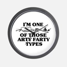 I'm One of Those Arty Farty T Wall Clock