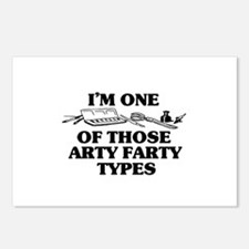 I'm One of Those Arty Farty T Postcards (Package o
