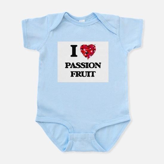 I Love Passion Fruit food design Body Suit