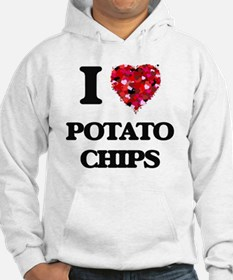 I Love Potato Chips food design Hoodie