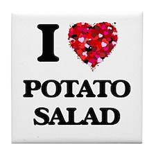 I Love Potato Salad food design Tile Coaster