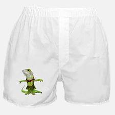 iguana do the hula Boxer Shorts