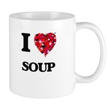 I Love Soup food design Mugs