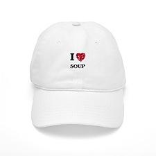 I Love Soup food design Baseball Cap