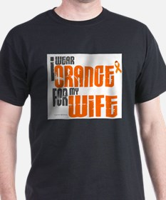 Unique Multiple sclerosis orange ribbon T-Shirt