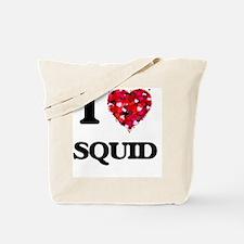 I Love Squid food design Tote Bag
