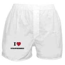 I Love Strawberries food design Boxer Shorts