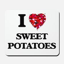 I Love Sweet Potatoes food design Mousepad