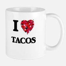 I Love Tacos food design Mugs