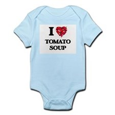 I Love Tomato Soup food design Body Suit