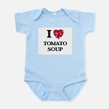 I Love Tomato Soup food design Body Suit