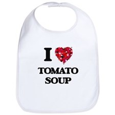 I Love Tomato Soup food design Bib