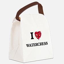 I Love Watercress food design Canvas Lunch Bag