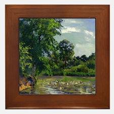 Camille Pissarro - Ducks on the Pond at Montfoucau