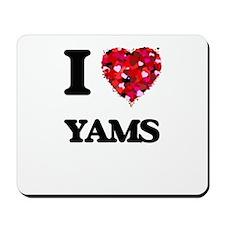 I Love Yams food design Mousepad