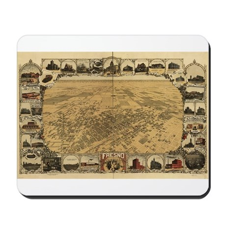 Fresno Old Map Mousepad