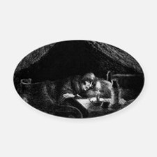 Camille Pissarro - Grandmother Oval Car Magnet