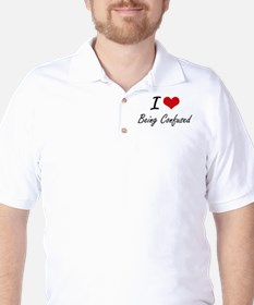 I love Being Confused Artistic Design T-Shirt
