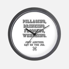 PILLAGING ETC CROSSBONES - JUST ANOTHER Wall Clock
