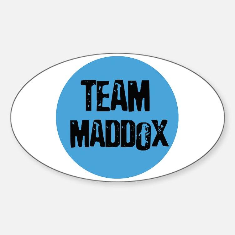 Team Maddox Oval Decal
