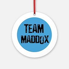 Team Maddox Ornament (Round)