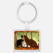 Autumn Cats/Orange Tabby Keychains