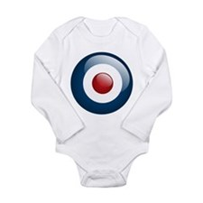 Cute Red white blue Long Sleeve Infant Bodysuit