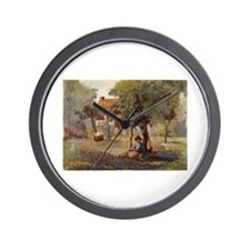 Camille Pissarro - Family Garden Wall Clock