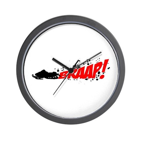 BRAAP! - Red logo Wall Clock