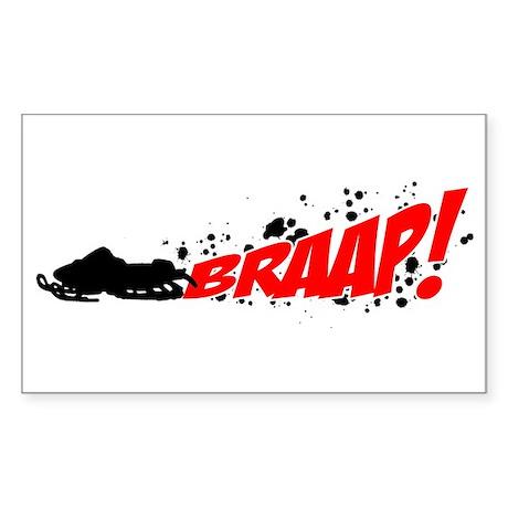 BRAAP! - Red logo Rectangle Sticker