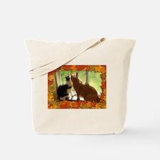 Autumn Cats/Orange Tabby Tote Bag