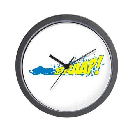 BRAAP! - Blue logo Wall Clock