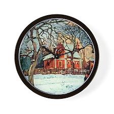 Camille Pissarro - Chestnut Trees, Louv Wall Clock