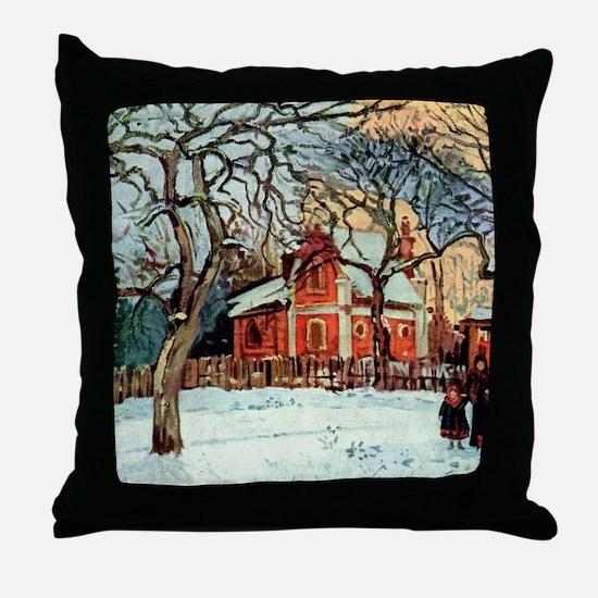 Camille Pissarro - Chestnut Trees, Lo Throw Pillow